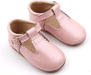 Genuine Leather Baby Mary Jane Soft Sole Shoes | Girls T-Bar, T-Strap Shoes | Hand Crafted, Breathable Shoes