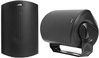 Polk Audio Atrium 6 Outdoor Speakers Black with Bass Reflex Enclosure | All-Weather Durability | Broad Sound Coverage | Sp...