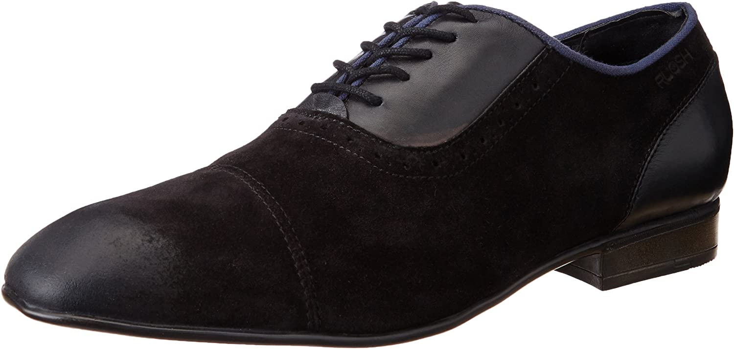 Ruosh Men's Black Leather Formal shoes - 10 UK India (44 EU)