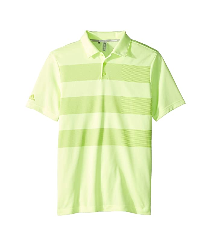 adidas Golf Kids  Three Stripe Polo (Little Kids/Big Kids) (Hi-Res Yellow) Boys Short Sleeve Knit