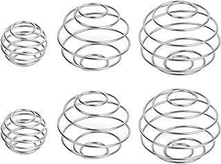 Shake Ball, Mezclador de proteínas de acero inoxidable Mezclador Mezcla de bolas para proteínas Bebidas mezcladas 6 piezas