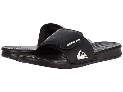Quiksilver Bright Coast Adjustable Slides (Black/White/Black 1) Men
