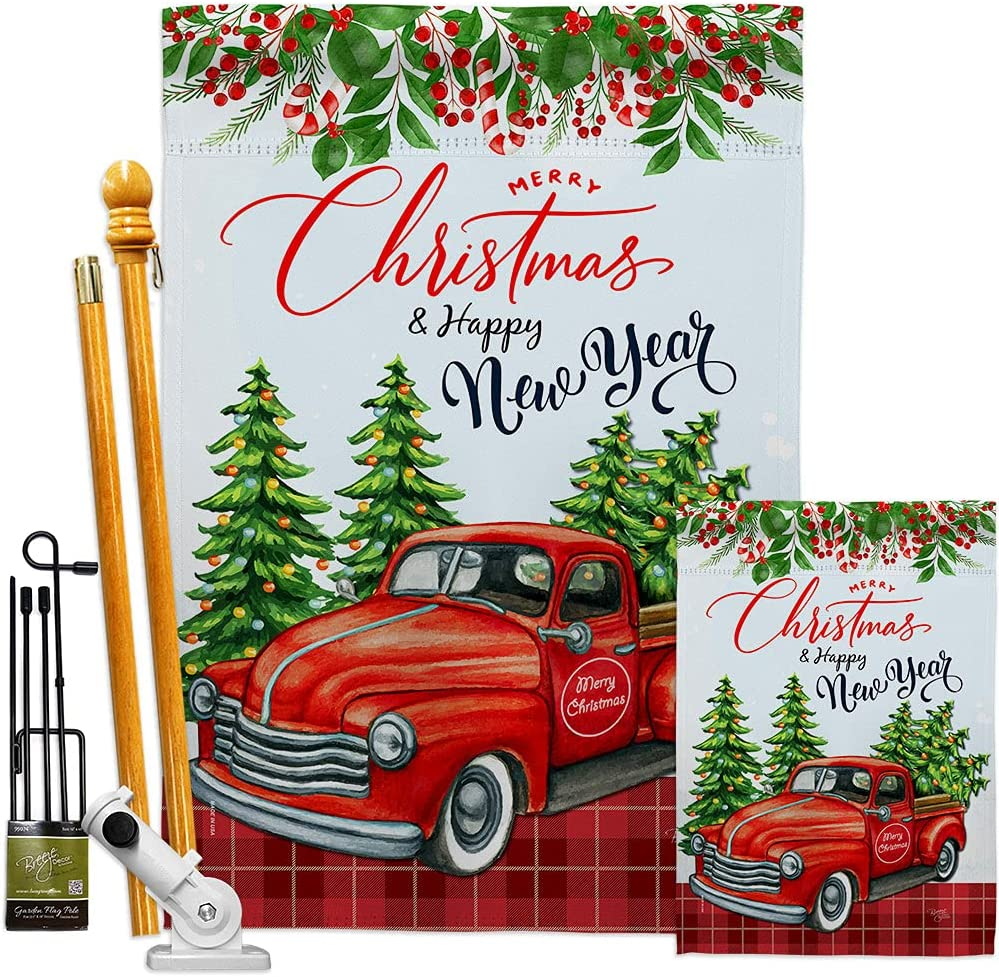 Chicago Mall Breeze Decor Christmas Happy 5% OFF New House Flag-Kit Year Wint Garden