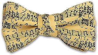 Josh Bach Men`s Music by JS Bach Self-Tie Silk Bow Tie Cream, Made in USA