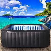 Whirlpool aufblasbar MSpa Tekapo für 4 Personen 158x158cm In-Outdoor Pool 108 Massagedüsen Timer Heizung Aufblasfunktion p...