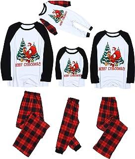 shengyijia Christmas Pajamas for Whole Family Outfits Parents Children Kids Cartoon Tree Print Sweatshirt+Jogging Bottoms ...