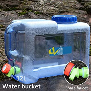 greatdaily - Bidón de Agua portátil de 12 L, para Coche,
