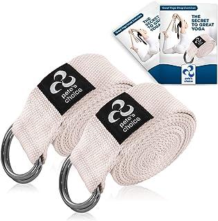 comprar comparacion Correas de Yoga Ajustable de 2,4 m – 2 x Pack I Incluye eBook I Correa de Estiramientos con Hebilla en D para Pilates, Gim...