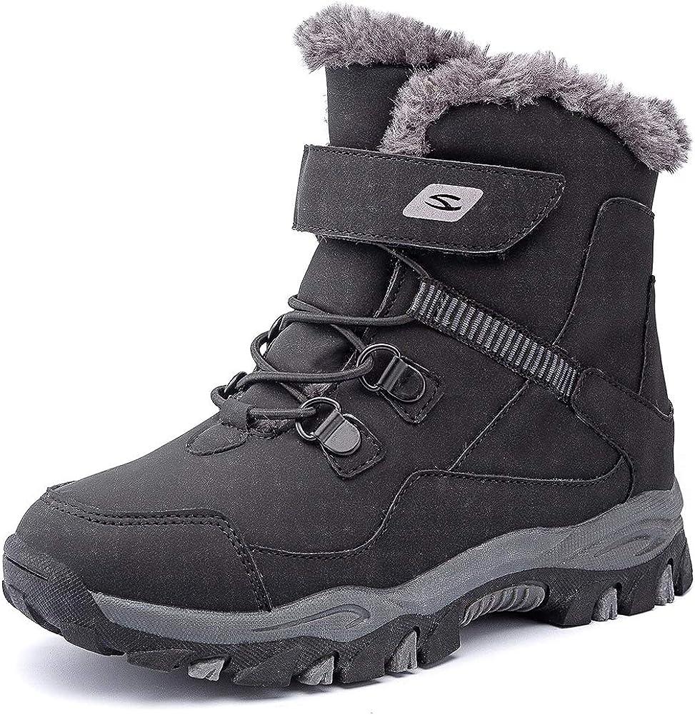 HOBIBEAR Kids Snow Inexpensive Las Vegas Mall Boots Boys Outdoor Girls Warm Winter Sh