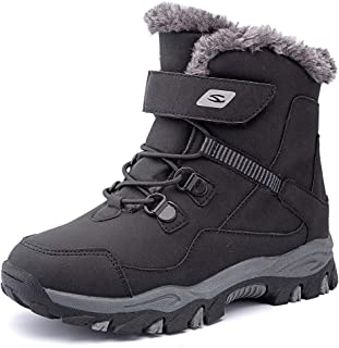 Kids Snow Boots Boys Girls Winter Boots Outdoor Warm...