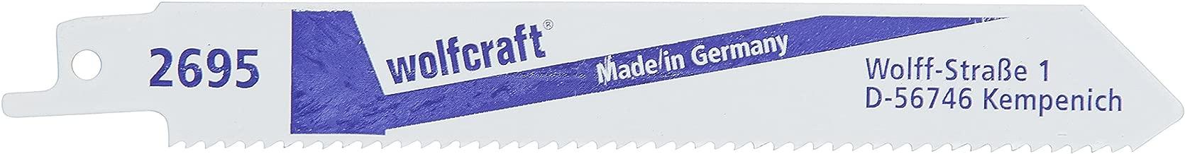 Wolfcraft 2679000 2 Lames Scie Sabre Bim Longueur Dent/ée 200 Mm  Dents Avoy/ées Et Frais/ée Pas de Dents 25 Mm