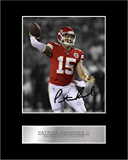 Patrick Mahomes II Signed Mounted Photo Display Kansas City Chiefs #01 NFL Printed Autograph Gift Picture Print