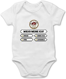 Shirtracer Strampler Motive - Baby - Wieso weine ich - Baby Body Kurzarm für Jungen und Mädchen