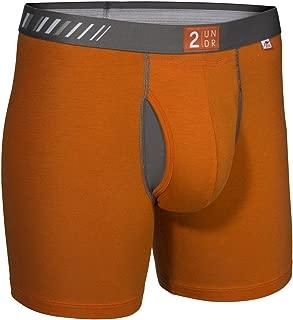2Undr Men's Swing Shift Boxer Brief, Orange, X-Large