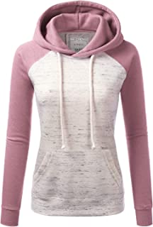 Womens Long Sleeve Fleece Pullover Hoodie Sweatshirts