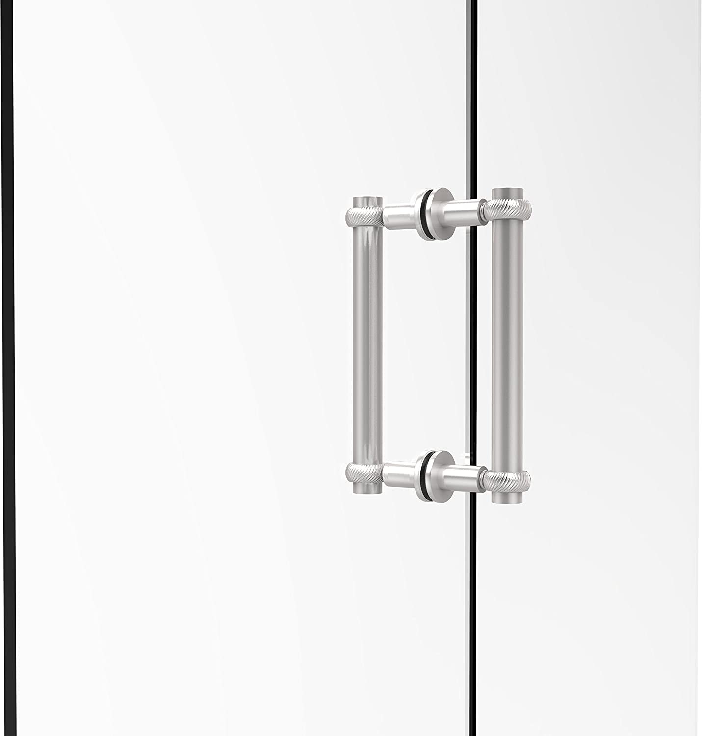 Allied Brass 404T-8BB-SCH Contemporary 8  Back to Back Shower Door Pull with Twisted Accent,
