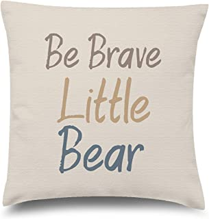 Funny Ugly Christmas Sweater Kids Decorative Pillow Covers Be Brave Quotes Throw Cushion Case 20