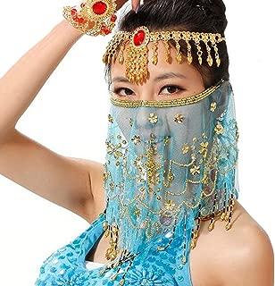 beaded face veil