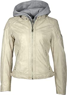Mauritius Women's Vegetable Tanned Lambskin Leather Jacket - Angy