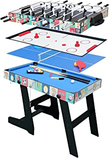 Hysport 4ft 4 in 1 Multi Game Table Combo Games Table, Foosball, Air Hockey, Billiard, Table Tennis
