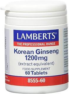 Lamberts Ginseng Coreano 1200mg - 60 Tabletas