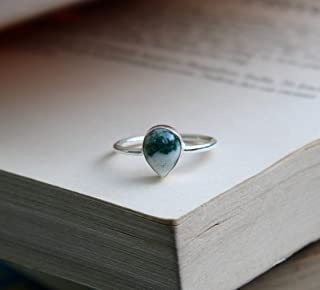 Natural Chrysocolla Ring, 925 Sterling Silver Ring, March Birthstone Ring, Gift For Her