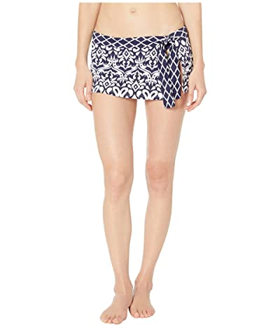 Tommy Bahama Ikat Diamonds Skirted Hipster (Mare Navy) Women
