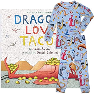Books to Bed Little Boy's Dragons Love Tacos Pajama Book Set