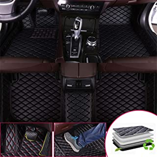 Custom Car Floor Mats for KIA Sorento 2015-2017 7-Seats Full Surrounded Waterproof Anti-Slip All Weather Protection Leather Material Car mat Carpet Liners Black