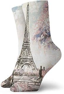 Calcetines deportivos Love In Eiffel Medias atléticas Diseñador Medias cortas