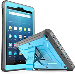 Fire HD 8 2017 Case, SUPCASE Unicorn Beetle PRO Series [Heavy Duty] Rugged Protective Cover with Built-in Screen Protector Case for Amazon Fire HD 8 Tablet (7th Generation) 2017 Release (Blue/Black)