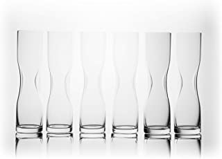 Gabriel-Glas - Pilsner Glass 330 ml - Set of 6 - Aqua Collection - Mouth-Blown - Lead-free Crystal Glass from Austria