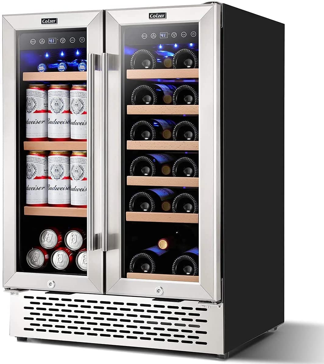 Colzer 24 Sale special price inch Wine and Zone Coo Beverage 35% OFF Refrigerator Dual