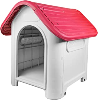 RayGar® - Caseta de plástico para perro o gato resistente a la intemperie - Para