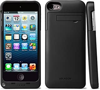 i-Blason Battery Case Designed for iPod Touch 6th 5th Generation Case, 2200mAh Portable Charging Rechargeable Extended Battery Slider Protective Case for iPod Touch 5/6, Black