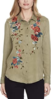 Jessica Simpson Juniors' Cotton Embroidered Shirt