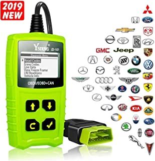 Ysding Code Reader Automotive Engine Fault Enhanced Obd2 Scanner Car Diagnostic Scan Toolwith DTC Lookup Full OBDII Functions (Green)