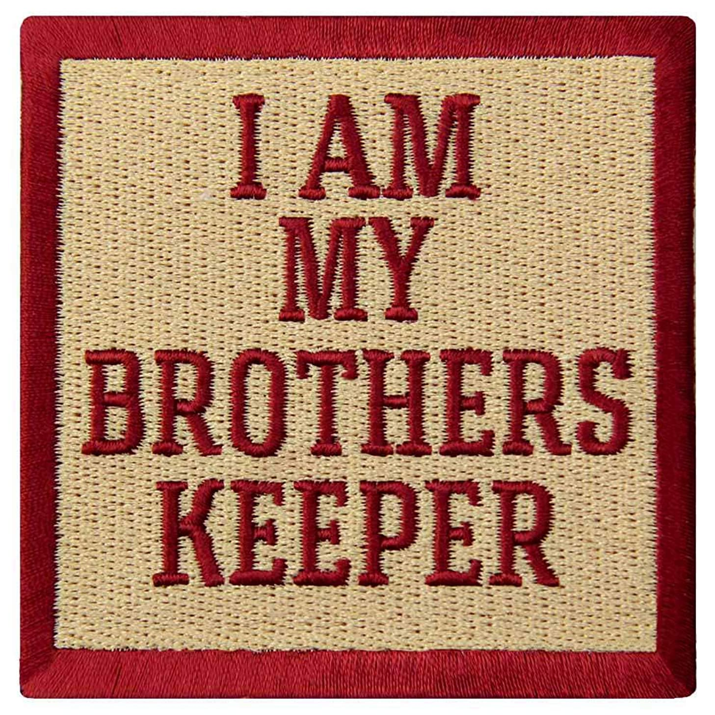 I Am My Brothers Keeper Patch Embroidered Funny Tactical Badge Biker Applique Iron On Sew On Emblem