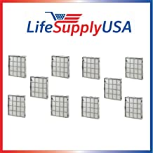 LifeSupplyUSA Complete Cassette Replacement Cartridge Filter Sets (10) Compatible with Kenmore EnviroSense Air Cleaner Model 85500, Part # 85510
