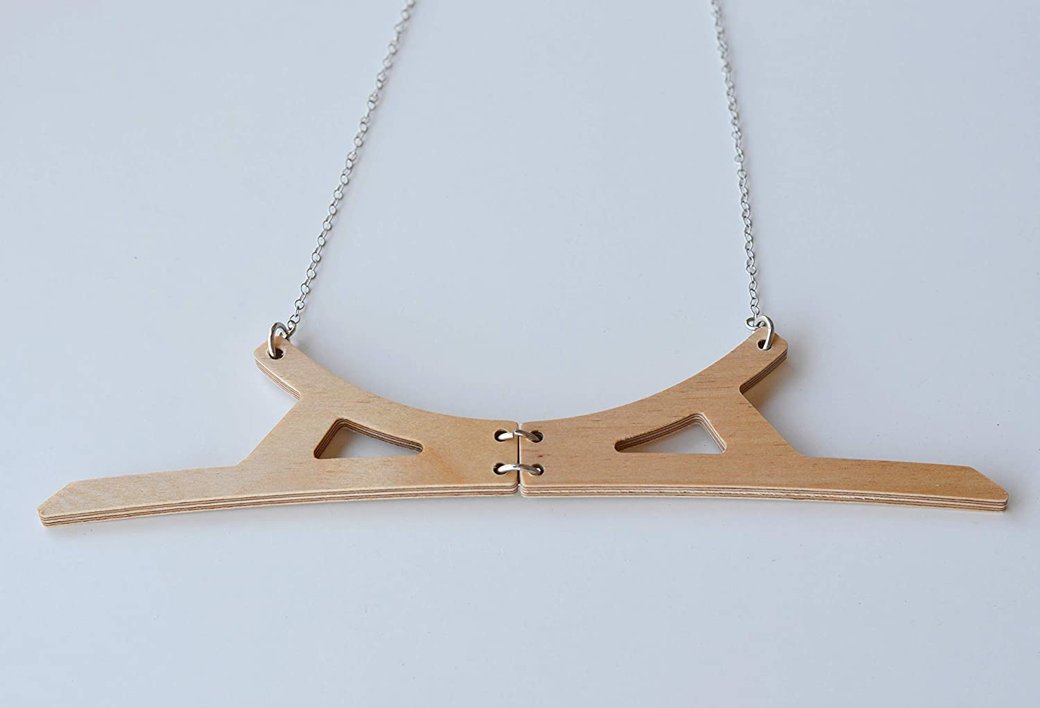 Ideogram inspired wooden necklace Max 47% OFF Be super welcome Half Con wide pendant circle