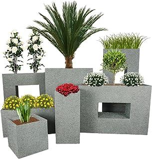 Pflanzwerk® Maceta Cube Granito Gris 23x23x23cm *Resistente