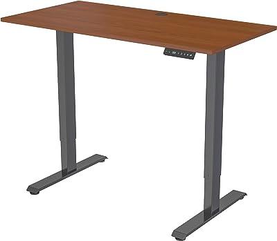 Lorell Height-Adjustable 2-Motor Desk, Brown