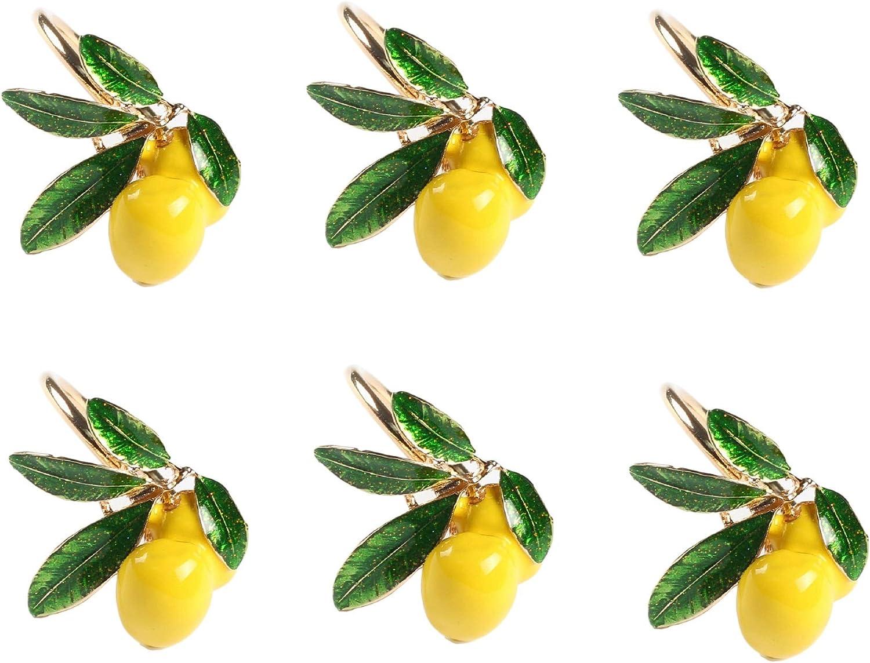Xidmold Napkin Rings Set High quality new quality assurance of Lemon D Fruit 6 Holder