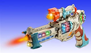WolVol Kids Police Pistol Gun with Action Lights & Sounds – Brightly Colored Blaster – Perfect Pretend Play Toy For Boys & Girls