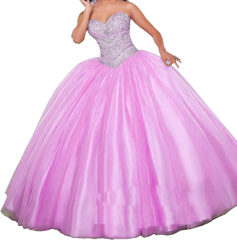 20KyleBird Women's Sweetheart Plus Size Quinceanera Dresses Crystal Beaded Ball Gown Floor Length Sweet 16 Dresses