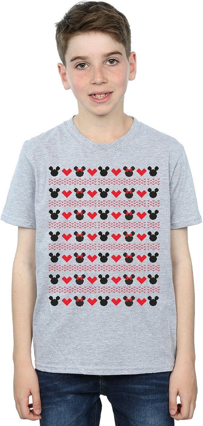 Disney Boys Mickey and Minnie Christmas Hearts T-Shirt