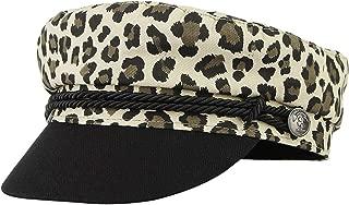 Gemvie Womens Leopard Print Winter Warm Fiddler Fisherman Cap Retro Fancy Costume Cabbie Visor Flat Cap