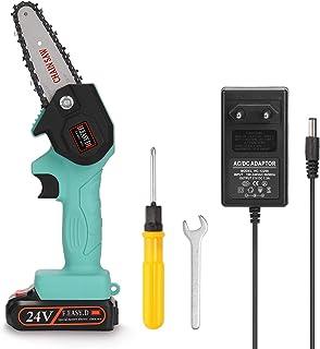 Kecheer Sierra de podar electrica bateria 24 V,Motosierra eléctrica pequeña para podar,Motosierras de podar para carpintería