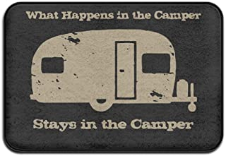 VSFDDD Felpudo para interiores y exteriores What Happens in The Camper, 2416 pulgadas