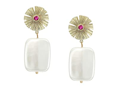 SHASHI Holly Earrings (Gold Pearl) Earring